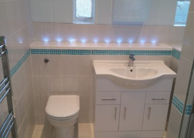 Complete new bathroom - Disability fittings in shower, tiling & custom made furniture