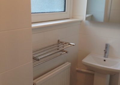 Fix damp, new bathroom makeover with new tiling & flooring