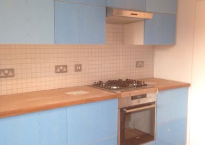 New kitchen and appliances, flooring and tiling