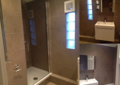 New marble tiled bathroom - Hackney